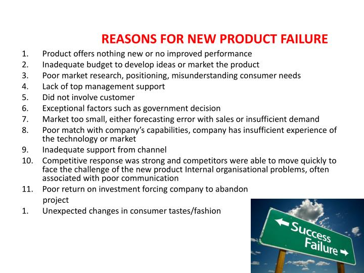 REASONS FOR NEW PRODUCT FA