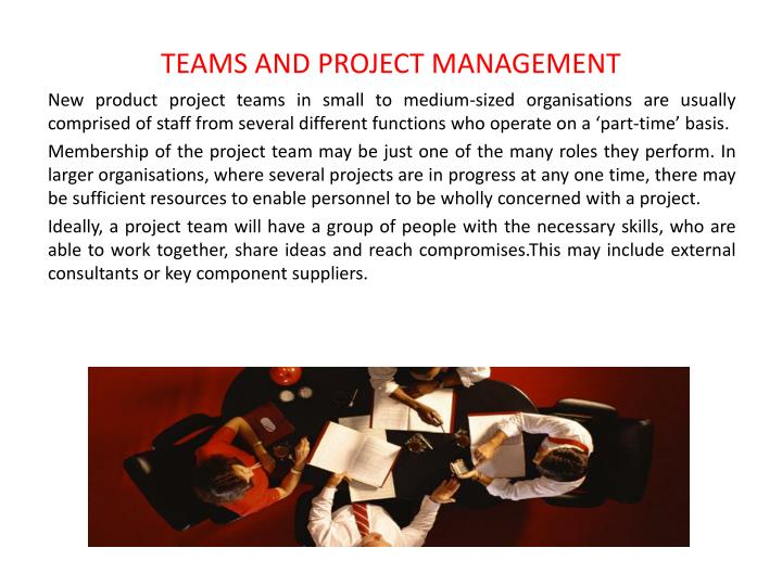 TEAMS AND PROJECT MANAGEMENT