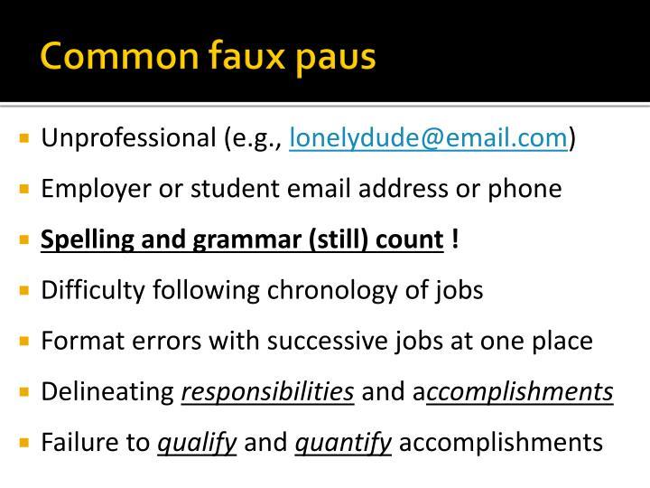 Common faux paus