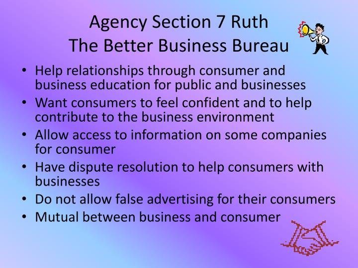 Agency Section 7 Ruth