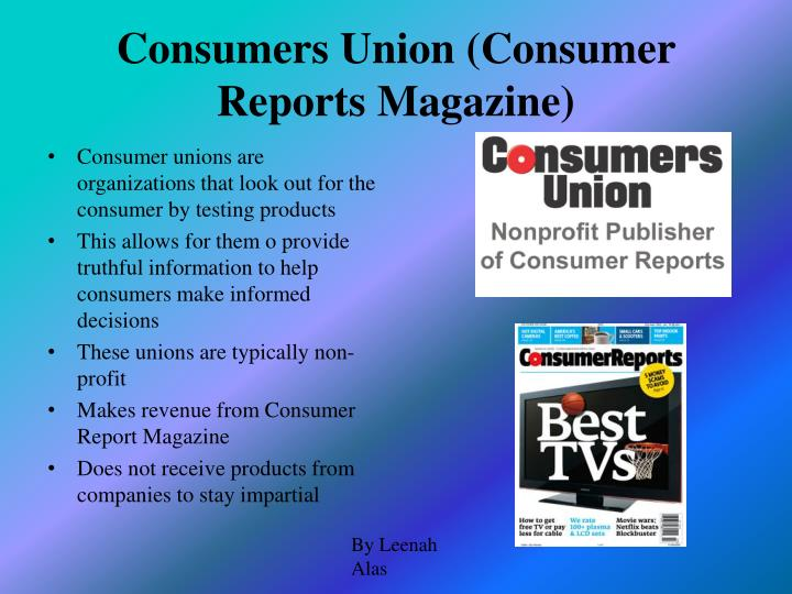 Consumers Union (Consumer Reports Magazine)