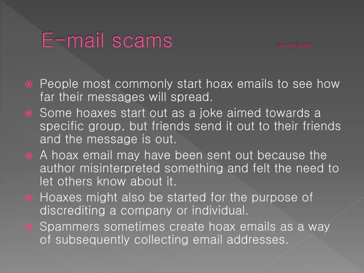 E-mail scams