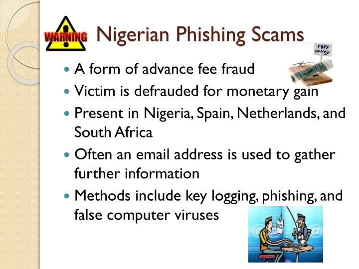 Nigerian Phishing Scams