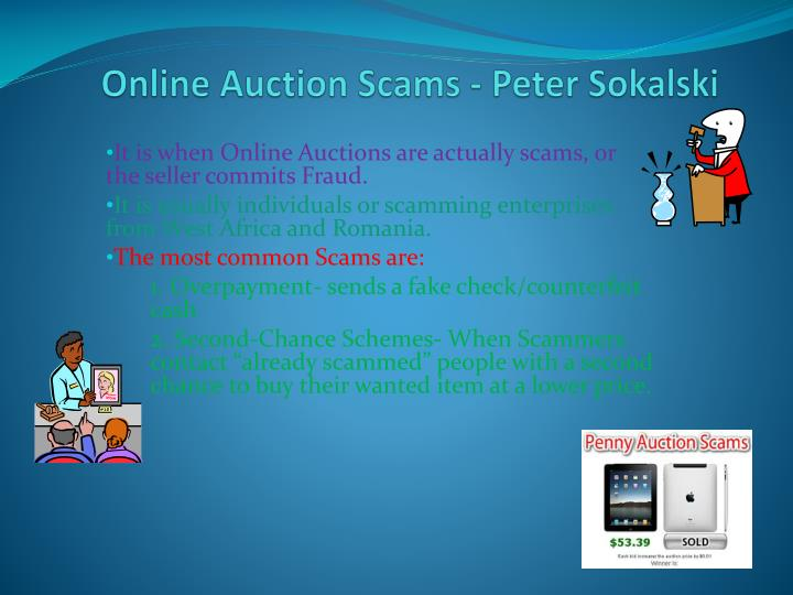 Online Auction Scams - Peter