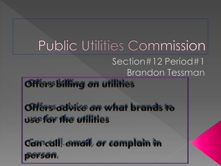 Public Utilities Commission