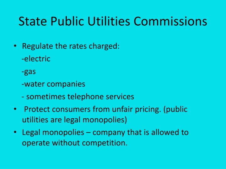 State Public Utilities Commissions