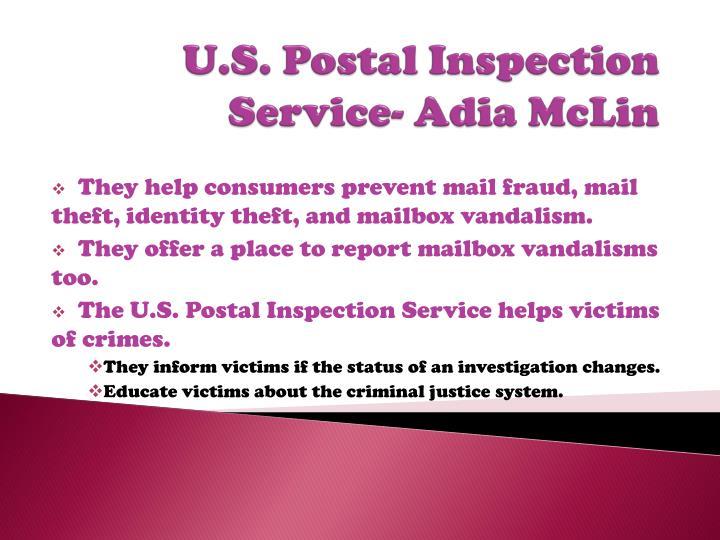 U.S. Postal Inspection Service-