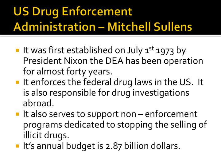 US Drug Enforcement Administration – Mitchell