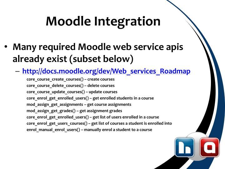 Moodle Integration