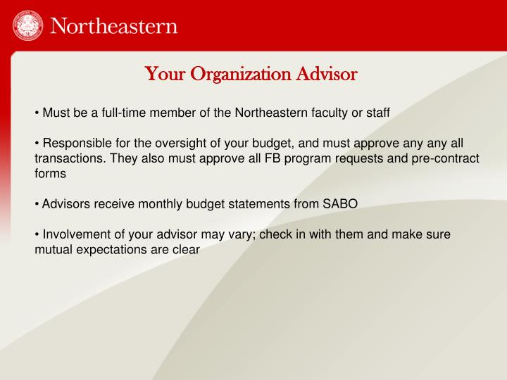 Your Organization Advisor