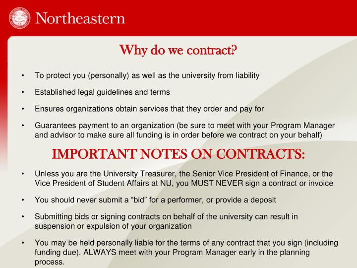 Why do we contract?