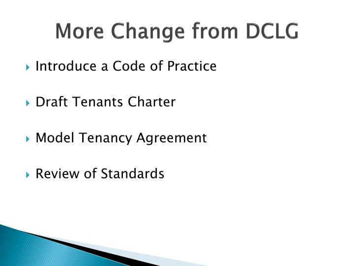 More Change from DCLG