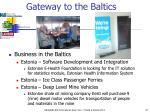 gateway to the baltics