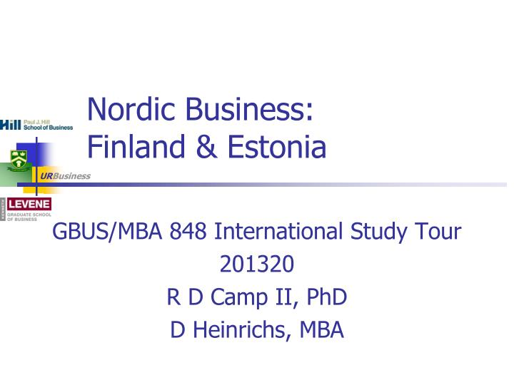 Nordic business finland estonia