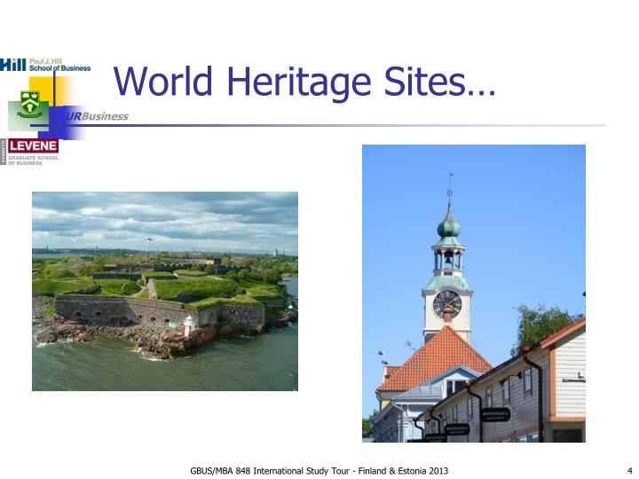 World Heritage Sites…
