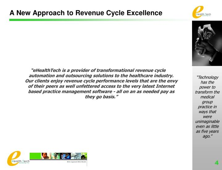 A New Approach to Revenue Cycle Excellence