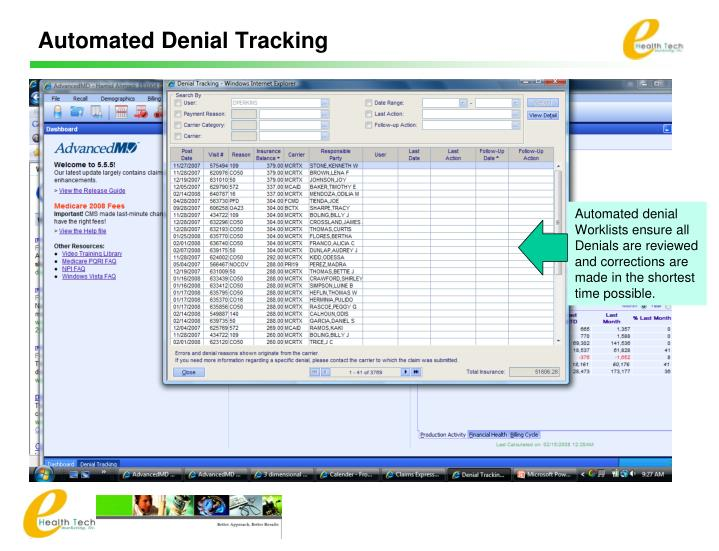 Automated Denial Tracking
