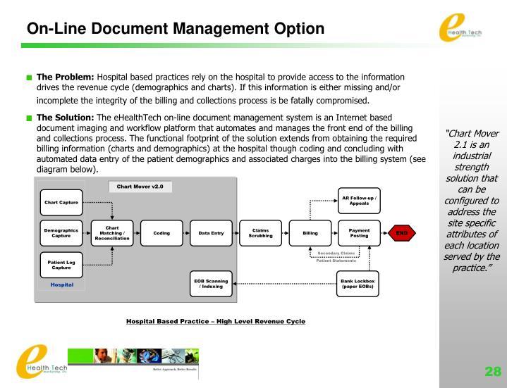 On-Line Document Management Option