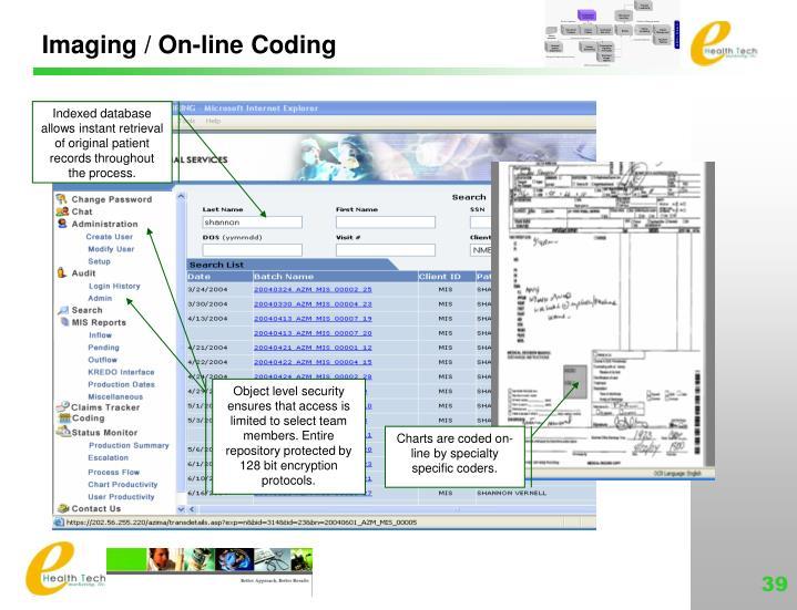 Imaging / On-line Coding