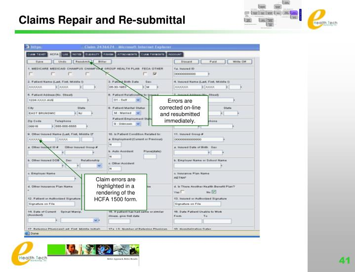 Claims Repair and Re-submittal