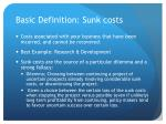 basic definition sunk costs