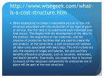 http www wisegeek com what is a cost structure htm