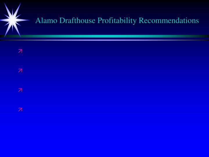 Alamo Drafthouse Profitability Recommendations