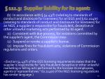 111 3 supplier liability for its agent