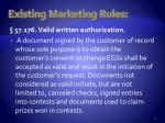 existing marketing rules3