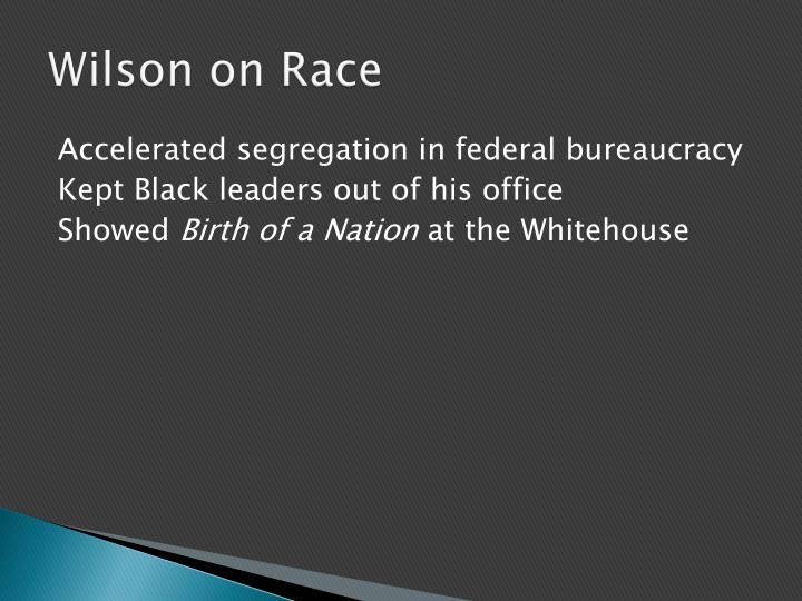 Wilson on Race
