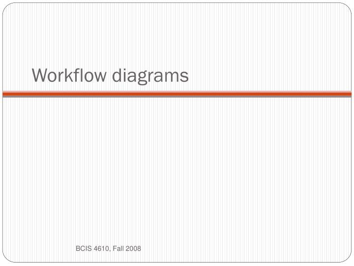 Workflow diagrams