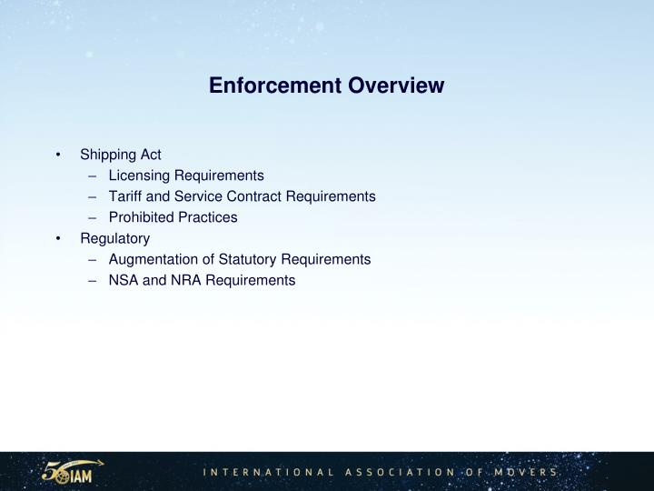 Enforcement Overview