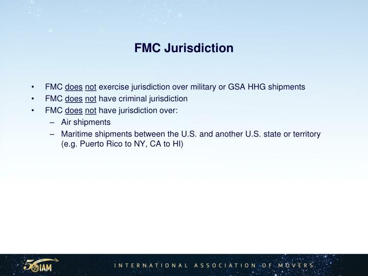 FMC Jurisdiction