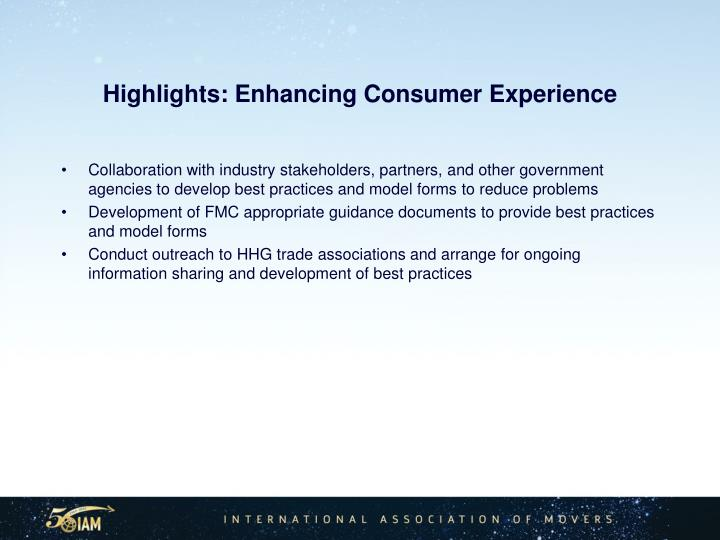 Highlights: Enhancing Consumer Experience