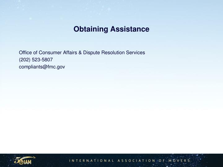 Obtaining Assistance
