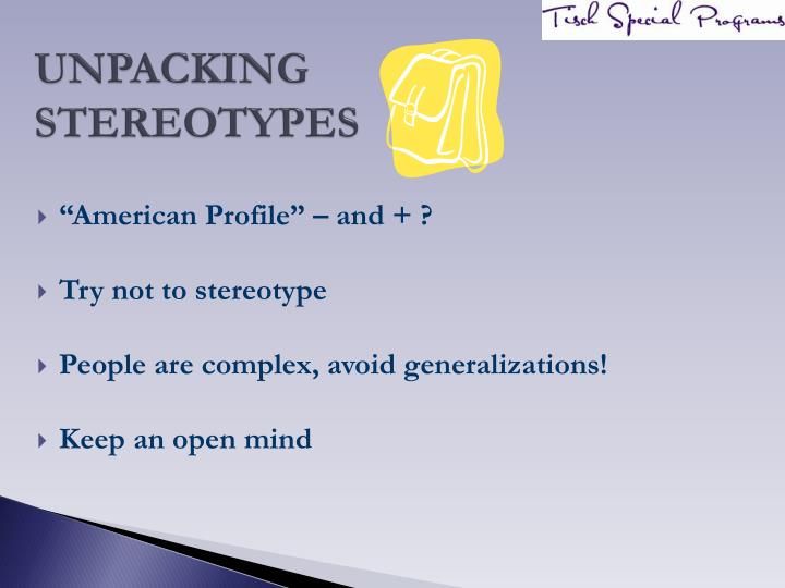 Unpacking stereotypes