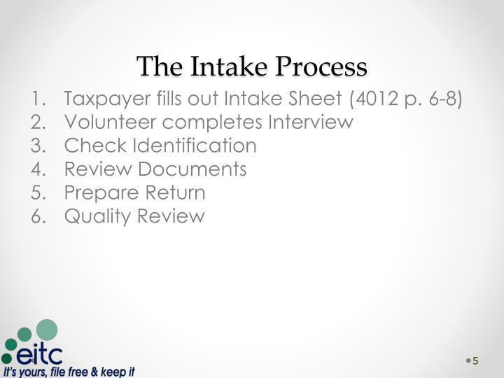 The Intake Process