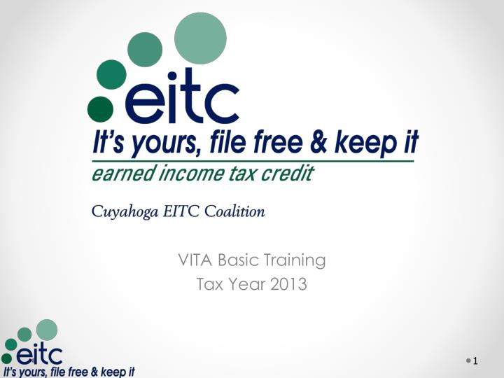 Vita basic training tax year 2013