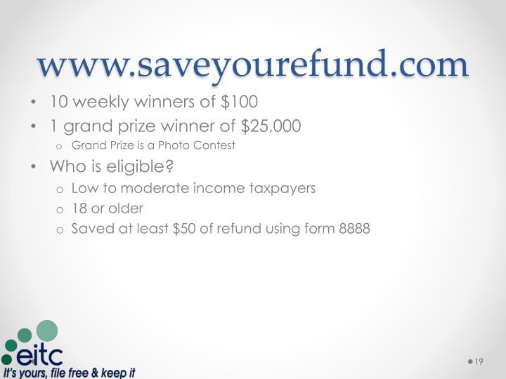 www.saveyourefund.com