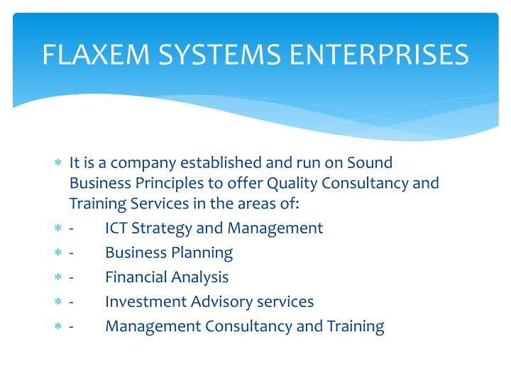 FLAXEM SYSTEMS ENTERPRISES