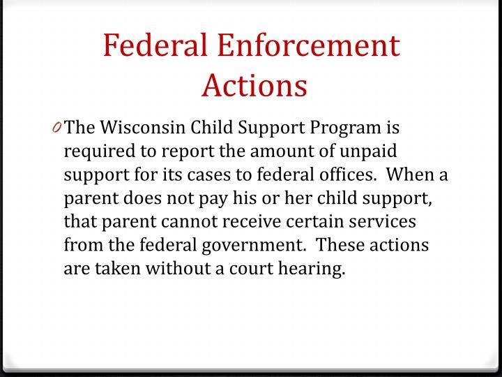 Federal Enforcement