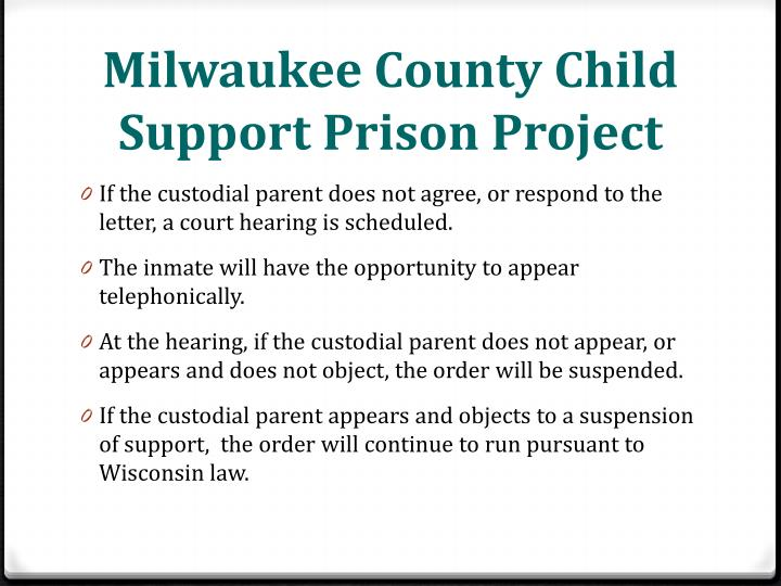 Milwaukee County Child Support Prison Project