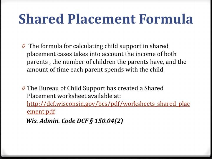 Shared Placement Formula