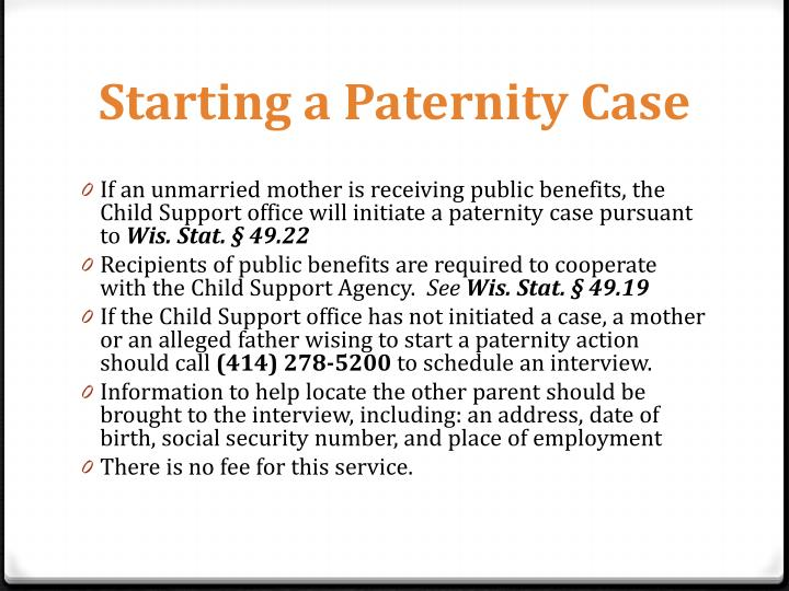 Starting a Paternity Case