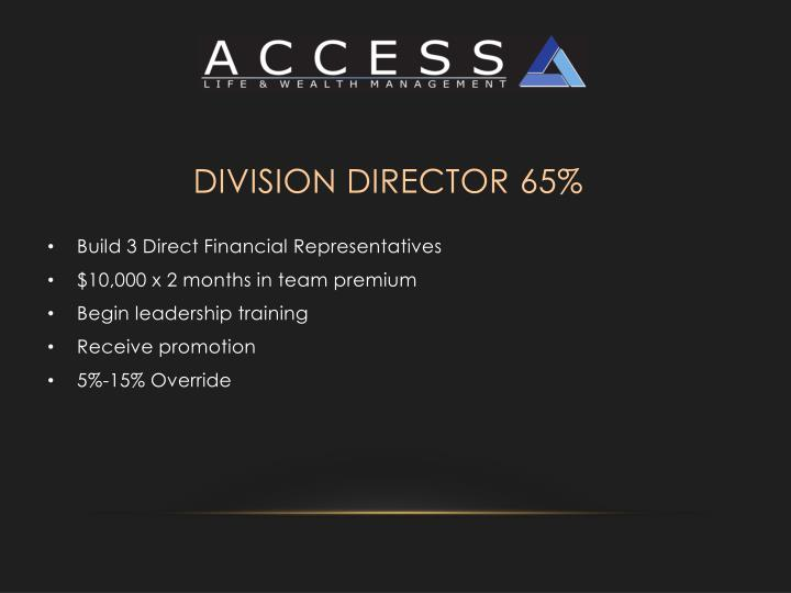 Division Director 65%