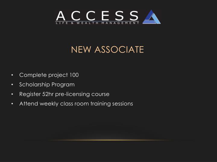 New Associate