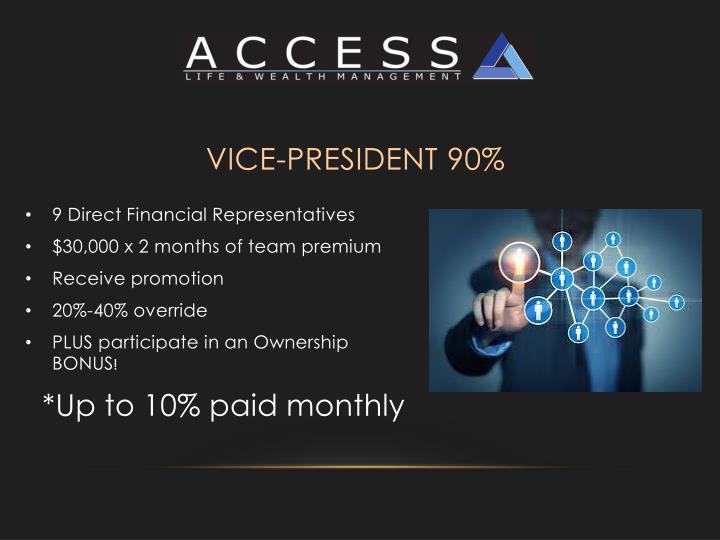 Vice-President 90%