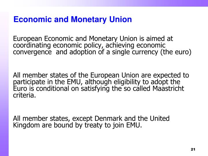 an analysis of the economy and monetary union Analysis of fiscal rules in the european monetary union 19  faculty of  economics podgorica e-mail: damirsehovic@yahoocom journal of.