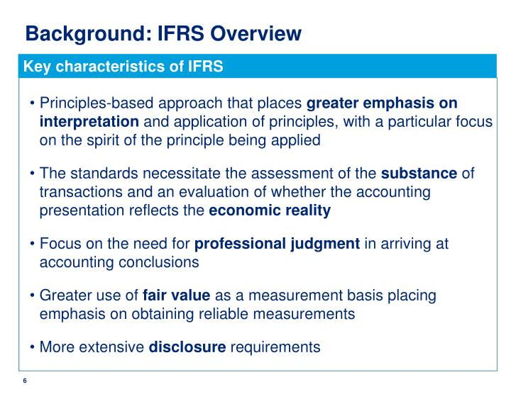 Background: IFRS Overview
