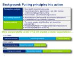 background putting principles into action